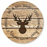 Custom Deer Round Address Labels