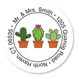 Custom Cactus Round Address Labels