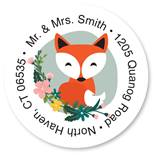 Custom Fox Round Address Labels