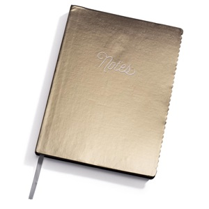 Metallic Gold Scalloped Edge Leatheresque Journal