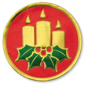 Christmas Candle Foil Seals