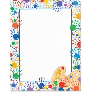 Hand Prints Border Papers