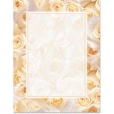 Cream Roses Border Papers