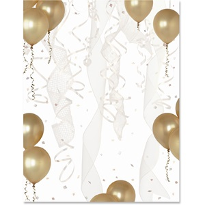 Gold balloons border papers paperdirects gold balloons border papers thecheapjerseys Gallery