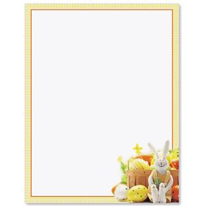 Eggs and Bunny Border Papers