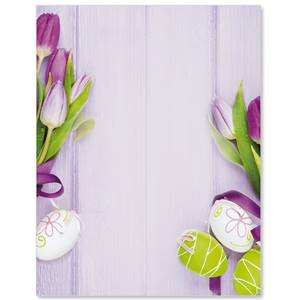 Easter Tulips Border Papers