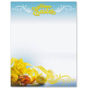 Easter Greeting Border Papers