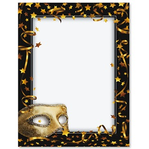 Mardi Gras Mask Border Papers