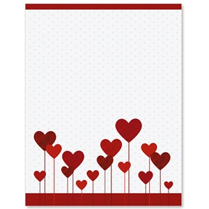 Hearts Abound Border Papers
