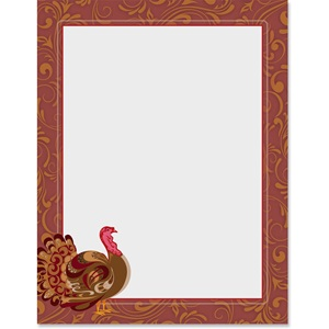 Ornate Turkey Border Papers