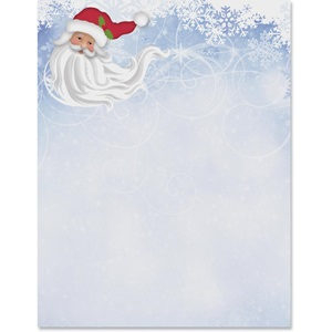 Wintery Santa Border Papers