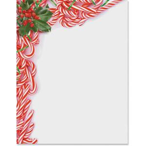 Mini Candy Canes Border Papers