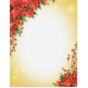 Poinsettia and Berries Border Papers
