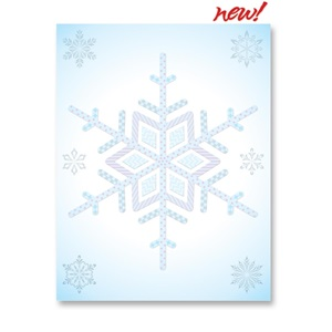 Showy Snow Border Papers
