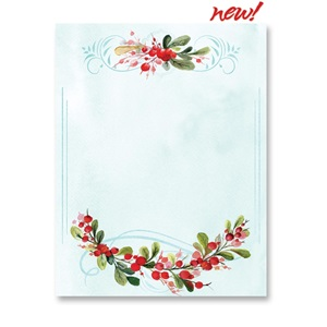 Wintery Watercolor Border Papers