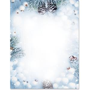 Winter Daydream Border Papers