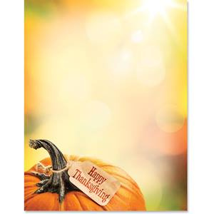 Thankful Pumpkin Border Papers