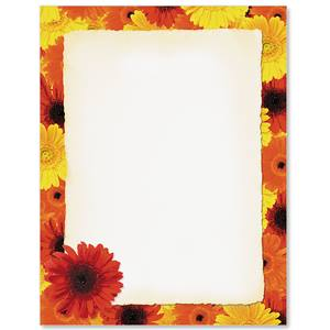Fall Flowers Border Papers