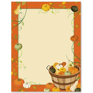 Gourd Harvest Border Papers