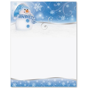Snowman Border Papers