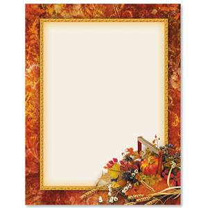 Fall Basket Border Papers