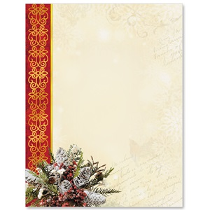 Christmas Cardinal Border Papers