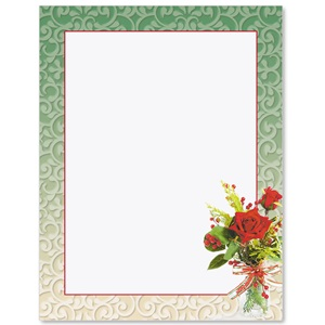 Holiday Vase Border Papers
