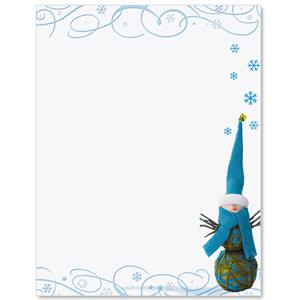 Twiggy Snowman Border Papers