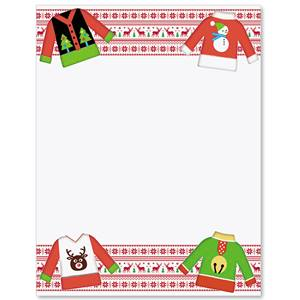 ugly christmas sweater border papers
