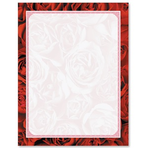 Red Red Rose Border Papers