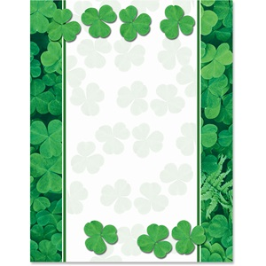 Green Clover Border Papers
