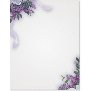 Lilacs Border Papers