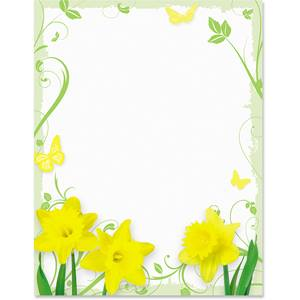 Daffodil Delight Border Papers | PaperDirect's
