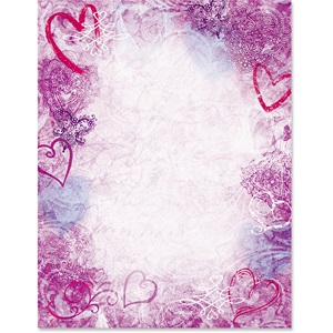 Heart Serenade Border Papers