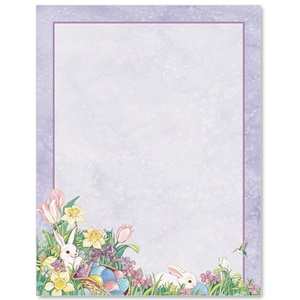 Easter Bunny Border Papers