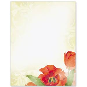 Tulip Romance Border Papers