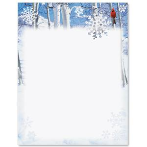 Winter Cardinal Border Papers Paperdirect S