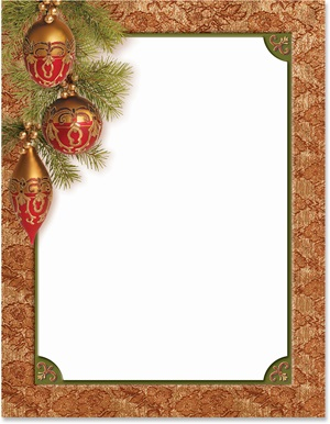 Baroque Christmas Border Papers