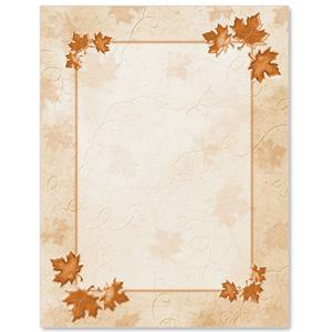 Copper Leaves Border Papers