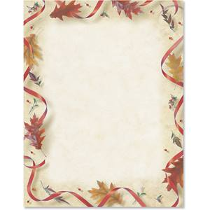 Festive Fall Border Papers