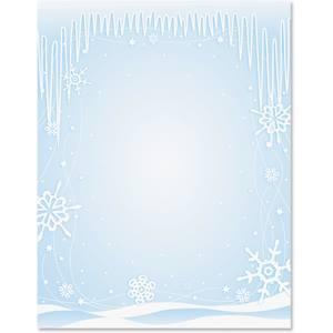 Icicles Border Papers