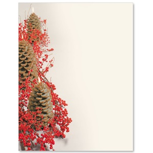 Glowing Pinecones Border Papers