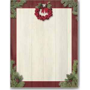 Barnwood Wreath Border Papers