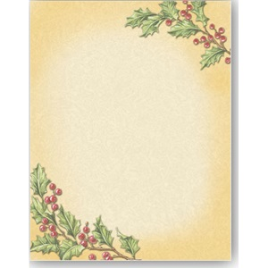 Vintage Holly Border Papers