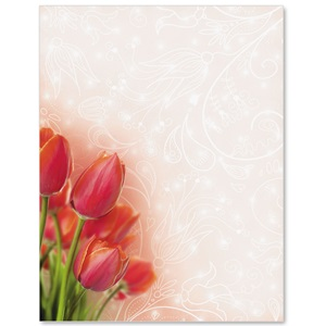 Spring Tulips Border Papers