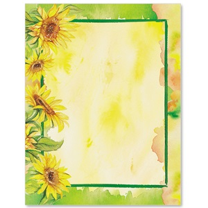 Sunflower Garden Border Papers | PaperDirect's