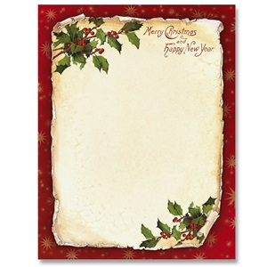 Border papers paperdirects old fashioned holly border papers thecheapjerseys Gallery