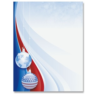 Patriotic Christmas Border Papers