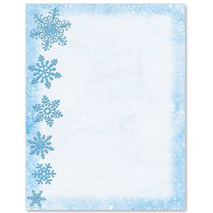 Frilly Frost Border Papers