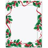 Graceful Holly Border Papers